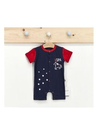 U.S. Polo Assn. Lisanslı Lacivert Erkek Bebek Kısa Kol Tulum Lacivert